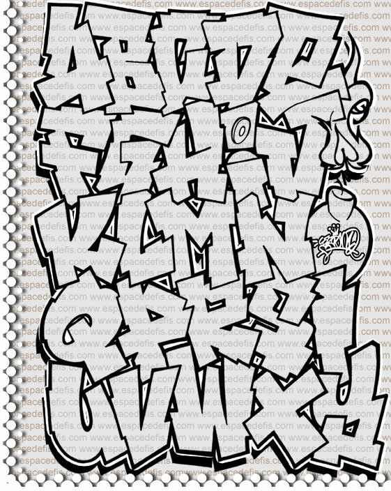 How to Write Graffiti Letters Alphabet